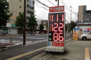 ガソリン価格とポイントカード
