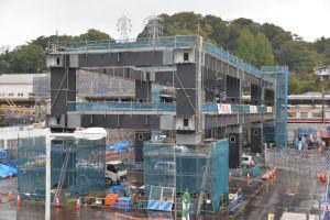 5基目の橋脚工事はまだ始まっていません