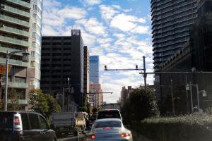 勝鬨橋を過ぎて来た辺り