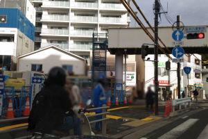 八景駅前歩道橋撤去始まる
