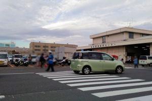 横浜南部市場は朝から賑わい