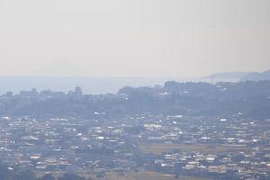 小田原城や真鶴半島も見えていました