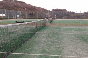 湘南国際村 雪の中のテニス