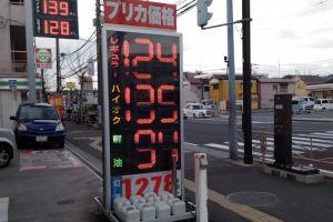 ガソリン価格up
