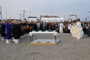 鎌倉では宗派を超えて復興祈願祭