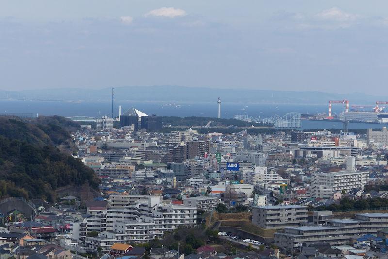 東京湾から房総半島が一望