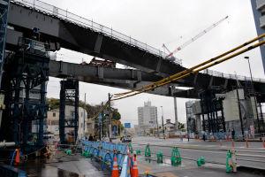 渡り線を含め3本の工事が終わりました