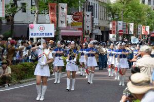 パレードの終わりは横浜市消防音楽隊