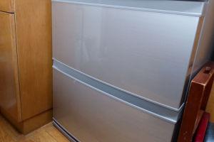 上が冷凍室で下が野菜室