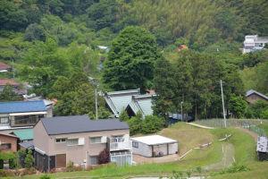 杉山神社の社がみえています