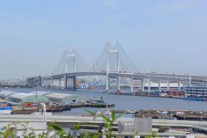 横浜ベイブリッジがよく見えています