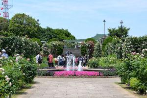 記念館側からの港の見える丘公園