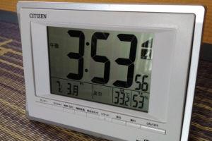 2階の部屋の温度計