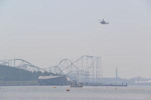 横浜市消防局のヘリが飛んできました