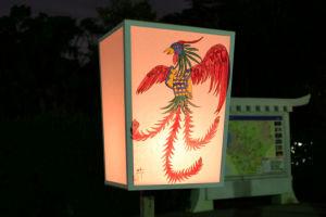 鶴岡八幡宮入口からぼんぼりが並び
