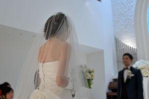 花嫁さんの後ろ姿