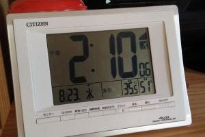 2階の温度計も35.5度にも