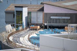 シーサイドライン八景駅舎からの延伸部分