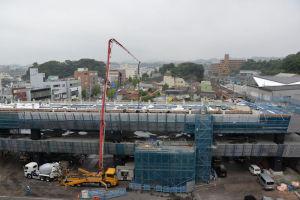 17年9月SSL延伸工事コンクリート打設
