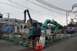 第4街区も工事が活発になってきていました