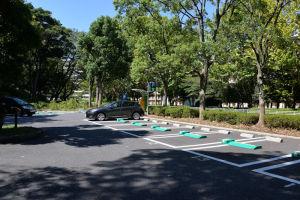 富岡総合公園の有料駐車場