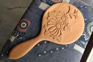 鎌倉彫の手鏡