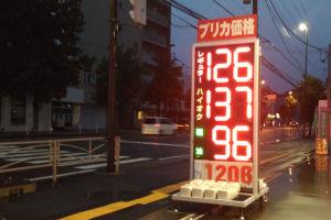 ガソリン価格と気温