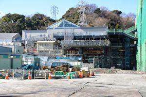 工事中の京急金沢八景新駅舎
