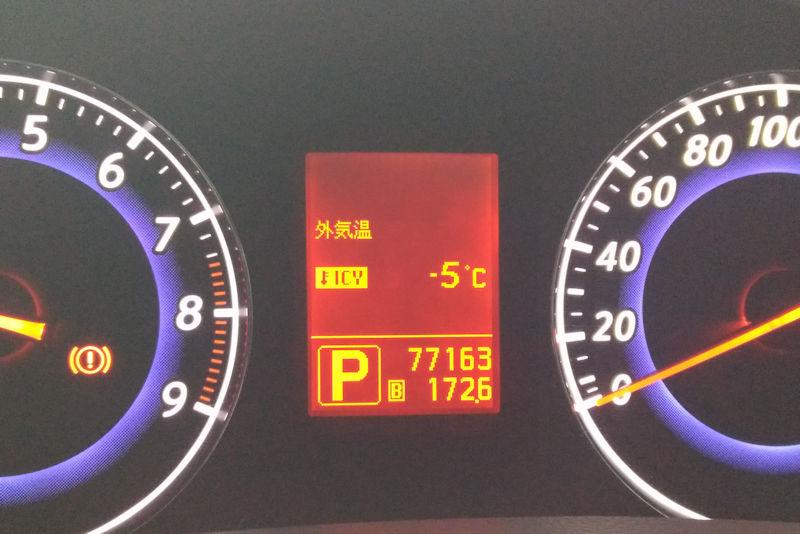 外気温度をみると氷点下5℃