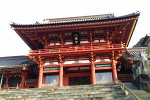 大石段からの鶴岡八幡宮本宮