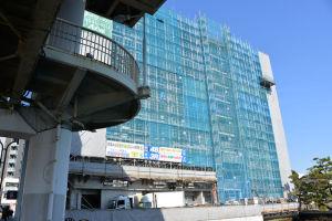 建設中のマンション
