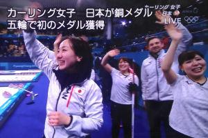平昌五輪カーリング女子日本銅メダル