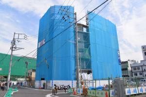 4街区に建設中のビル