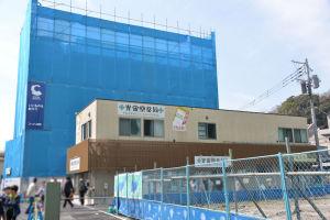 16号線から見た4街区に建設中のビル