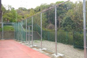西側のフェンス