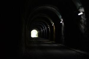 トンネルは約170mほど