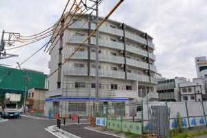 八景駅前マンションと歩行者動線