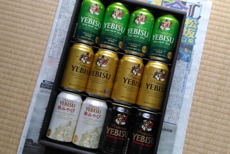 350mlのエビスビールが12缶