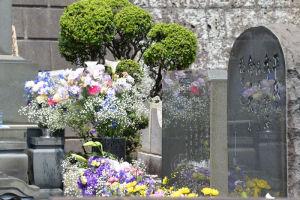 墓誌とひばりさんが詠んだ短歌