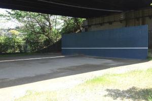 テニスの壁打ちブロック塀