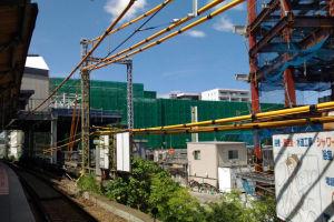 緑の部分はシーサイドライン延伸工事
