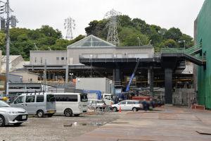 八景駅新駅舎、2か月前の5月10日撮影