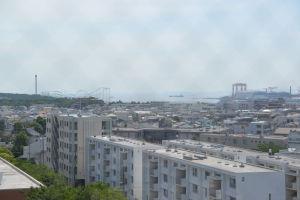 八景島シーパラのサーフコースターがみえて