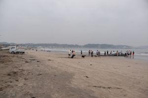 砂浜に降りてみました