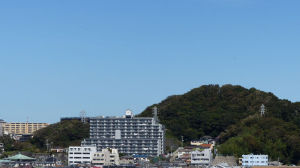 台風一過の青空が広がっています