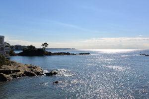 立石公園と海岸
