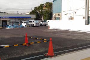 駐車場は計画では10台