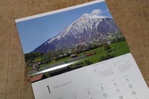 1月はスイスのニーセン山(標高2362m)をバックに