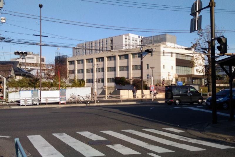 横浜南共済病院前交差点近く