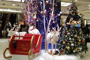 横浜高島屋クリスマスの飾り